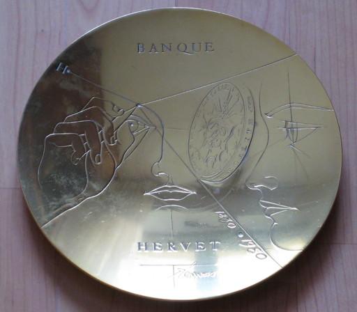 Pierre-Yves TRÉMOIS - Sculpture-Volume - BRONZE 1980 SIGNÉ BANQUE HERVET ERCUIS 18 cm SIGNED BRONZE