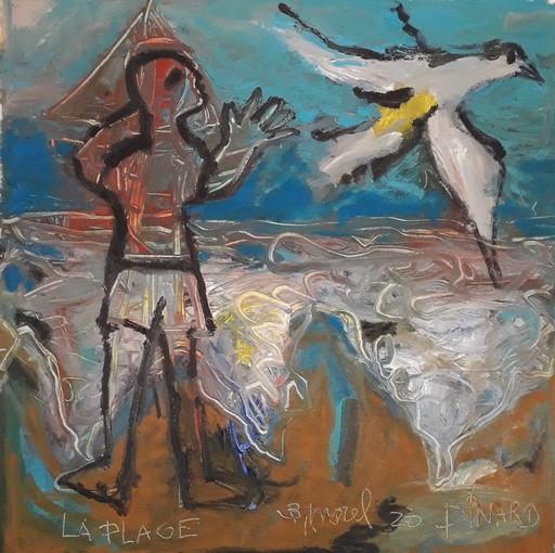 Bernard MOREL - Peinture - LA PLAGE...DINARD...
