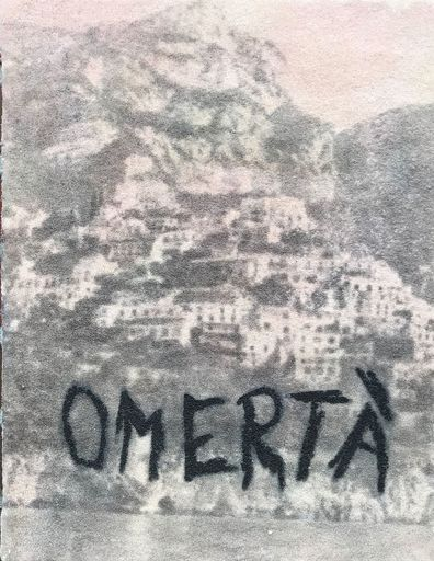 Christian BLAU - Painting - OMERTA`    (Cat N° 6986)