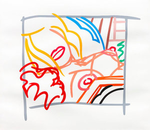 Tom WESSELMANN - Print-Multiple - Bedroom Blonde Doodle with Photo