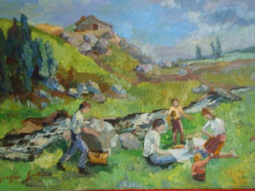 Serge SIEVIC - Peinture - PIQUE  NIQUE