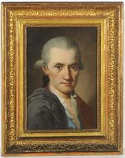 """Johann WYRSCH (Attrib.) - Pintura - """"Joh. Georg v. Mueller (1722-1801)""""  1760/70s"""