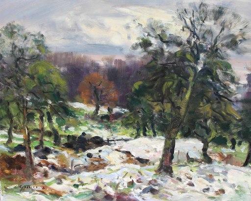 Gaston SEBIRE - Painting - Première neige