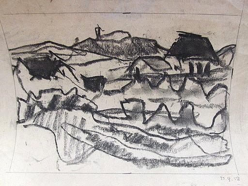 Erich HARTMANN - Disegno Acquarello - Lönstrup