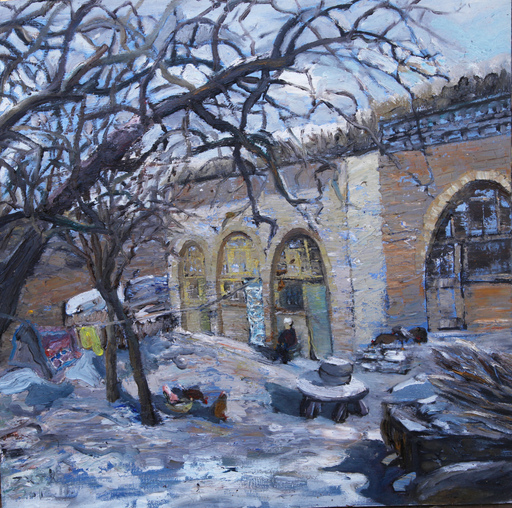 ZHENG Judy C. - Gemälde - The Snow In Weita Village