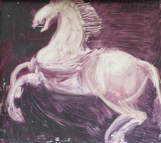 Magdalena RADULESCU - Painting - Le cheval