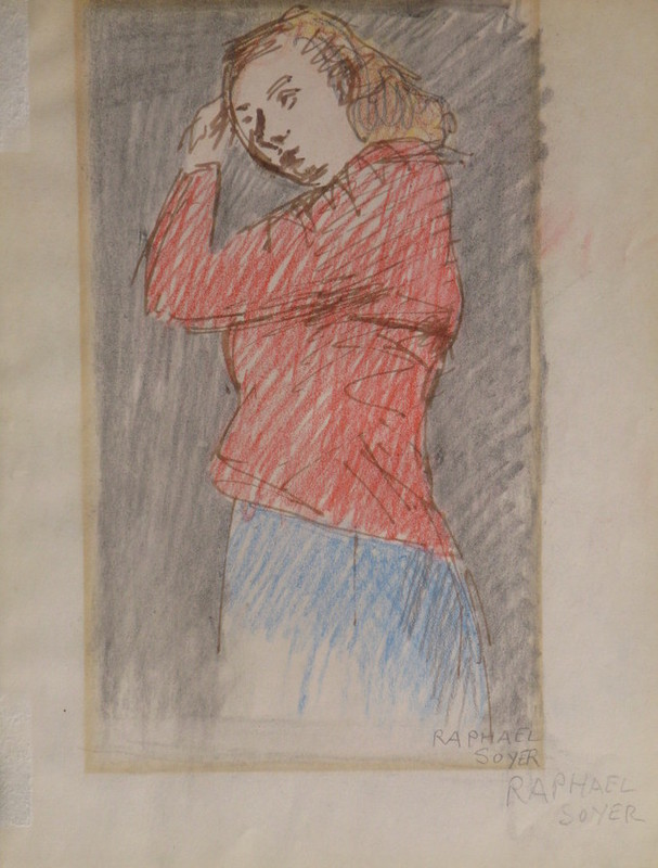 Raphael SOYER - Drawing-Watercolor - *Young Girl
