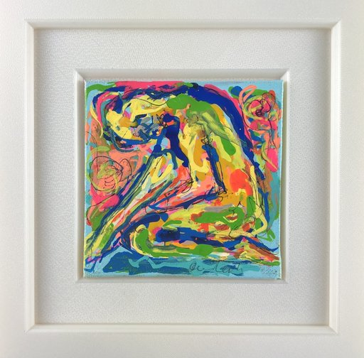 Nicole LEIDENFROST - Gemälde - Frau am Wasser