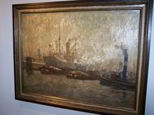 John GLEICH - Painting - Marine Harbor