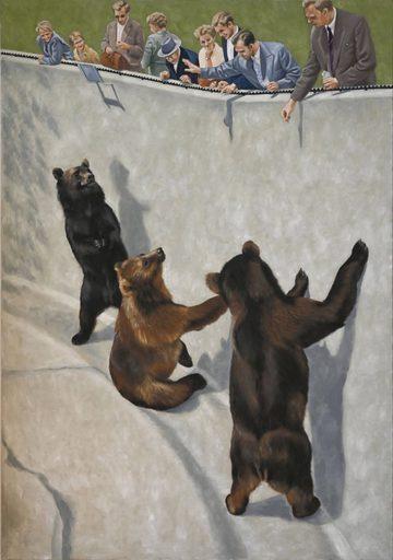 Regine FREISE - Pintura - « Le fossé des ours »