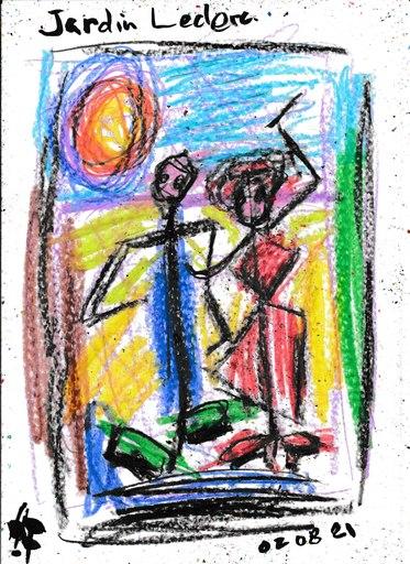 Harry BARTLETT FENNEY - Disegno Acquarello - jardin leclerc (16 09 21)