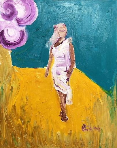Nicole LEIDENFROST - Gemälde - Frau mit Blüte im Haar