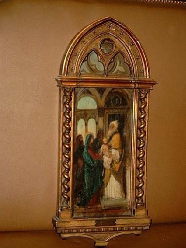 Giuseppe BERTINI - Painting - Maria mit dem Jesuskind im Tempel