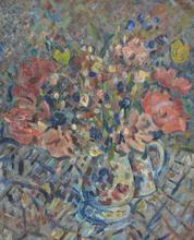 Pinchus KREMEGNE - Peinture - Floral still-life