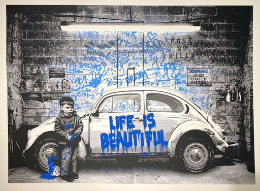 MR BRAINWASH - Druckgrafik-Multiple - Beetle, blue