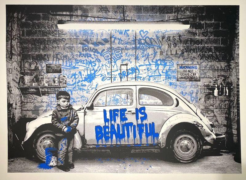 MR BRAINWASH - Estampe-Multiple - Beetle, blue