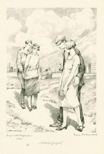 Hans BALUSCHEK - 版画 - Arbeiterjugend