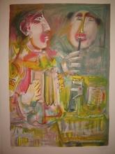 Blasco MENTOR - Grabado - Le cirque:Les clowns musiciens,1989.