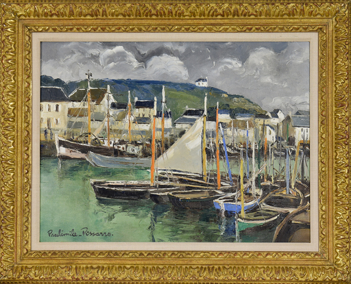 Paul Émile PISSARRO - Painting - Port en Bessin, Calvados