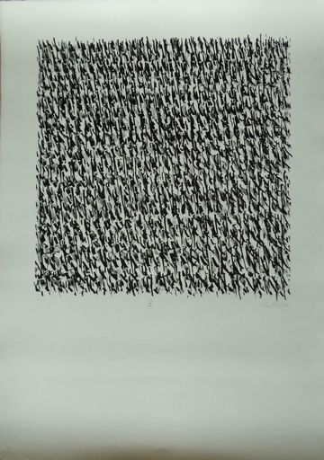Günther UECKER - Print-Multiple - Manuelle Strukturen IX