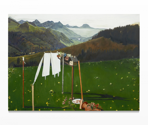 Leopold RABUS - Peinture - Jardin