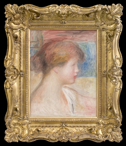 Pierre-Auguste RENOIR - Pittura - Tête de Jeune Fille