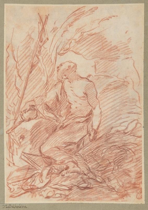 Michel-François DANDRÉ-BARDON - Drawing-Watercolor - Saint Jérôme pénitent