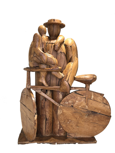 Manolo VALDÉS - Sculpture-Volume - El ciclista