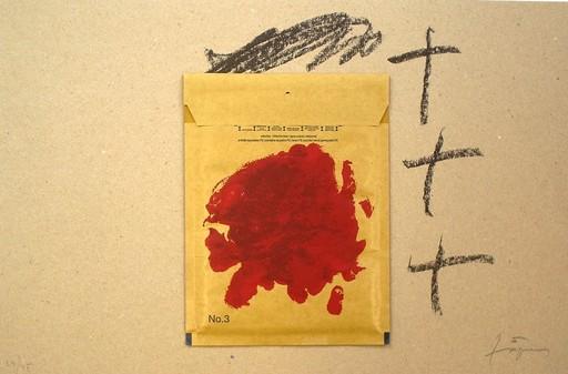 Antoni TAPIES - Print-Multiple - Sobre i Vermell