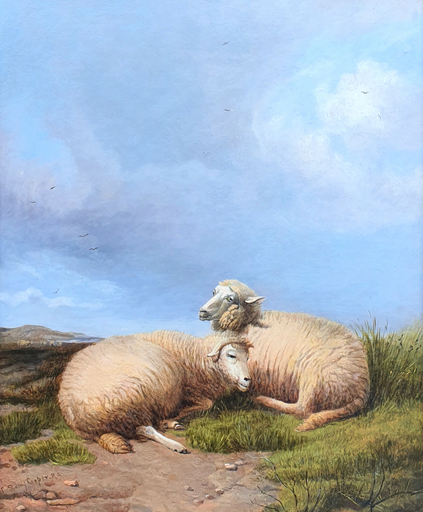 Thomas Sidney COOPER - Pittura - Sheep Resting