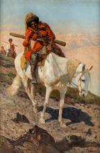 Franz Alekseevic ROUBAUD - Painting - The Circassian Horseman
