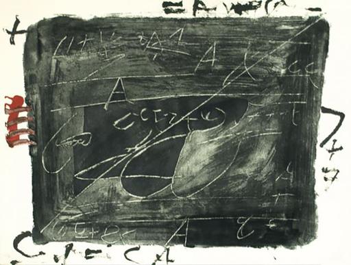 Antoni TAPIES - Print-Multiple - Esgriafats Damunt Negre 2