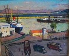 Maurice BOUVIOLLE - Peinture - Port d'Alger