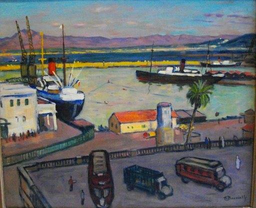 Maurice BOUVIOLLE - Pittura - Port d'Alger