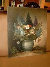 Klaus CLAUSMEYER - Pintura - Sommerlicher Blumenstrauß mit Levkojen