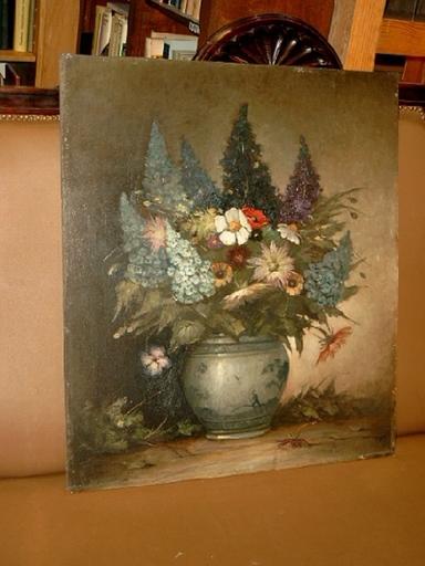 Klaus CLAUSMEYER - Peinture - Sommerlicher Blumenstrauß mit Levkojen