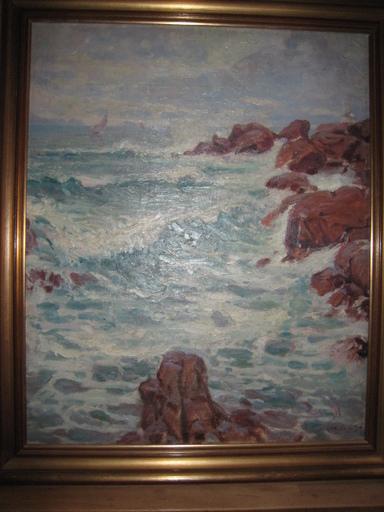 Jules Alfred HERVÉ-MATHÉ - Painting - TEMPETE EN BRETAGNE