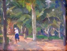 Elie Anatole PAVIL - Painting - Park in Marrakesh