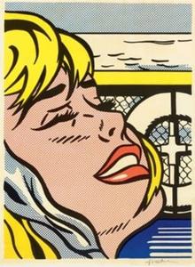 Roy LICHTENSTEIN - Estampe-Multiple - Shipboard girl
