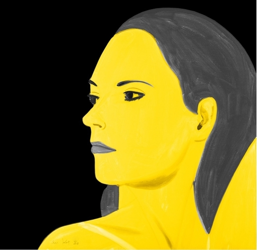 Alex KATZ - Grabado - Yellow Laura