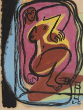 LE CORBUSIER - Drawing-Watercolor - Femme nue allongée