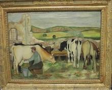 Giuseppe CESETTI - Painting - Il mungitore