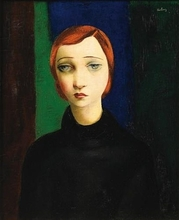 莫依斯·基斯林 - 绘画 - Portrait of a woman