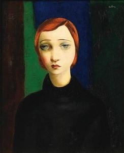 Moïse KISLING - Peinture - Portrait of a woman