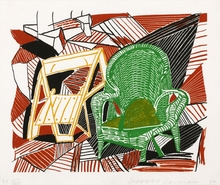 David HOCKNEY (1937) - Two Pembroke Studio Chairs, from 'Moving Focus'