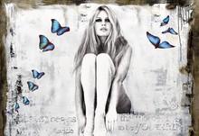 Devin MILES - Grabado - Butterflies