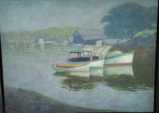Ramon LOY - Painting - Vista del Rio Cojimar