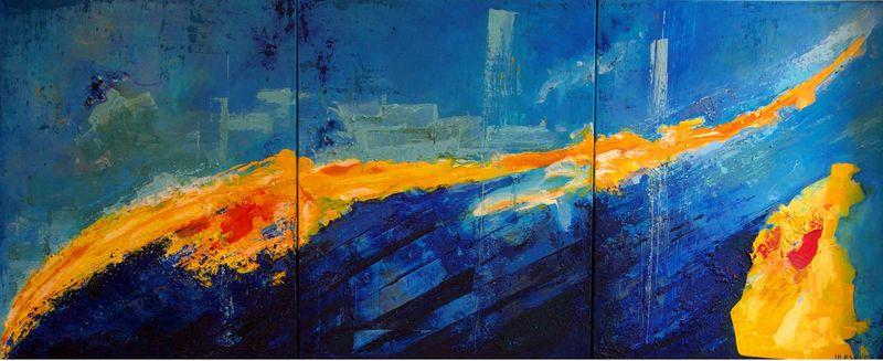 Ursula ULESKI - Peinture - Envol d'Icare