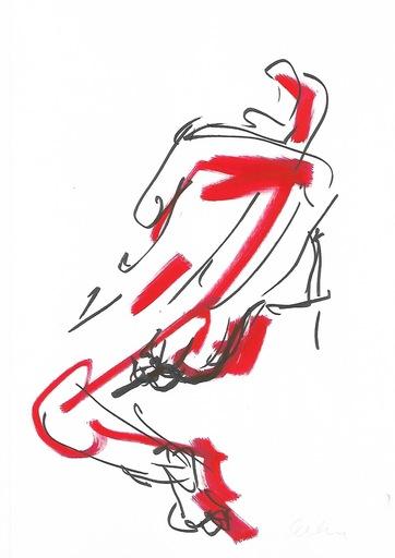 Nicole LEIDENFROST - Zeichnung Aquarell - Aktzeichnung