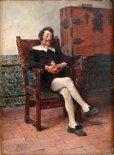 José JIMÉNEZ ARANDA - Gemälde - A Moment of Repose